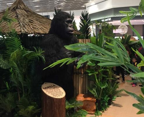 Animatronic Gorilla in Jungle Safari school holiday activity at Cockburn Gateway Shopping Centre