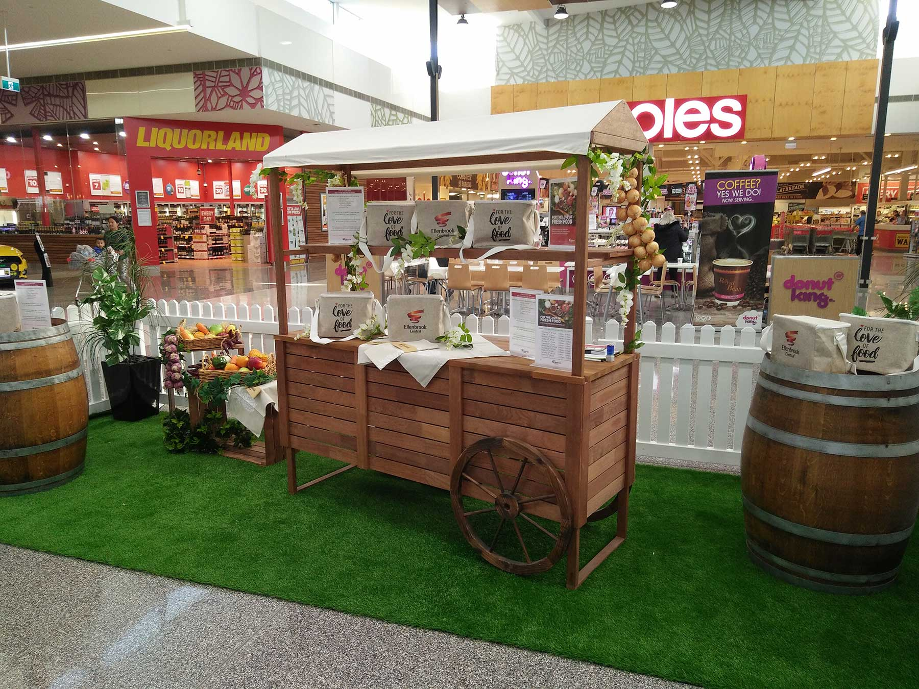Pop Up Cooking Demonstration Area at Ellenbrook Central Shopping Centre
