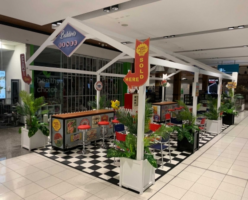 Pop Up 1950's American Style Diner at Stockland Baldivis Shopping Centre