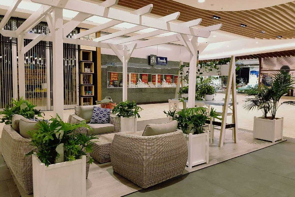 Hampton Style Pop-Up Dwell Zone at Mandurah Forum Shopping Centre