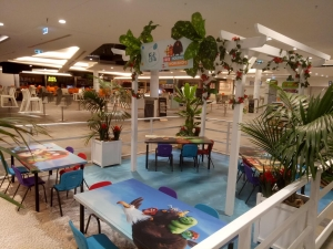 Angry Birds Themed Craft Activity Area at Belmont Forum Shopping Centre