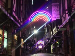 Custom Designed Neon Rainbows in London Court, Perth